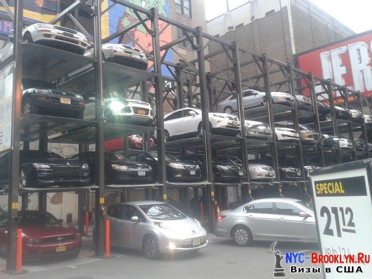 Парковки, в США, США, Нью-Йорк, автомобили, машины, NYC-Brooklyn