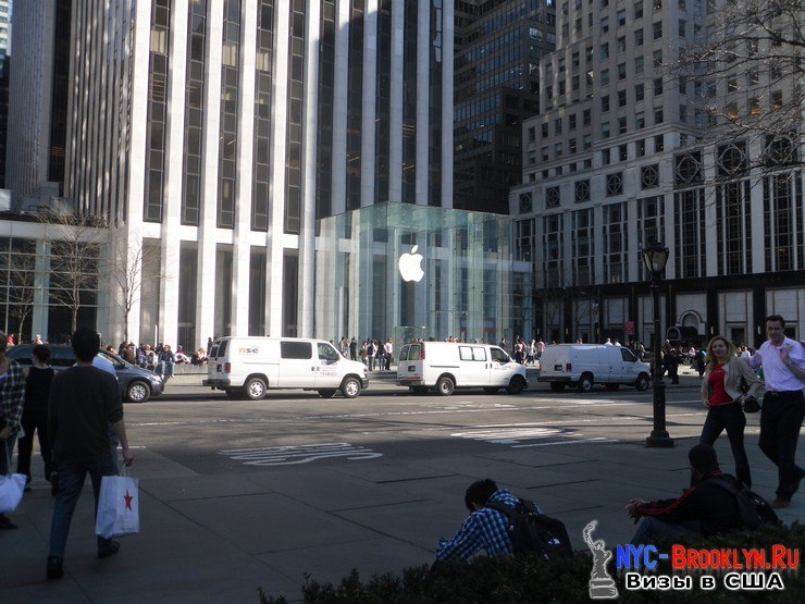 1. Магазин Apple Store в Нью-Йорке, на 5th Avenue - NYC-Brooklyn