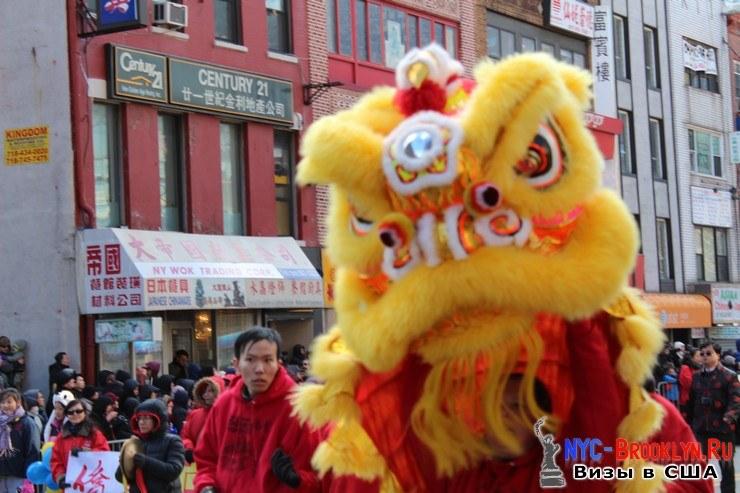 1. Парад в Нью-Йорке восточного Нового Года 2013 в Чайна Тауне - NYC-Brooklyn