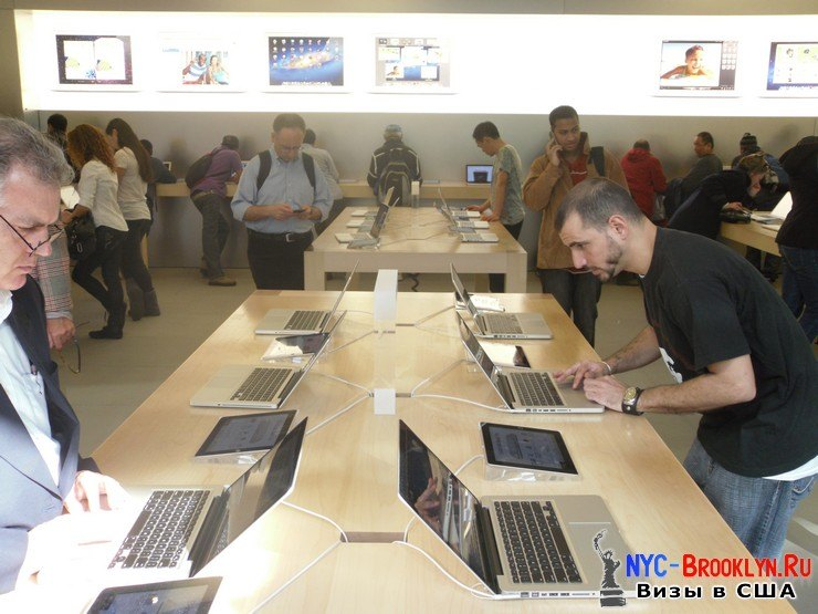 13. Магазин Apple Store в Нью-Йорке, на 5th Avenue - NYC-Brooklyn