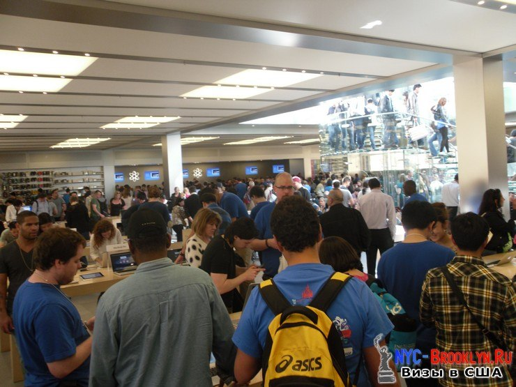 17. Магазин Apple Store в Нью-Йорке, на 5th Avenue - NYC-Brooklyn