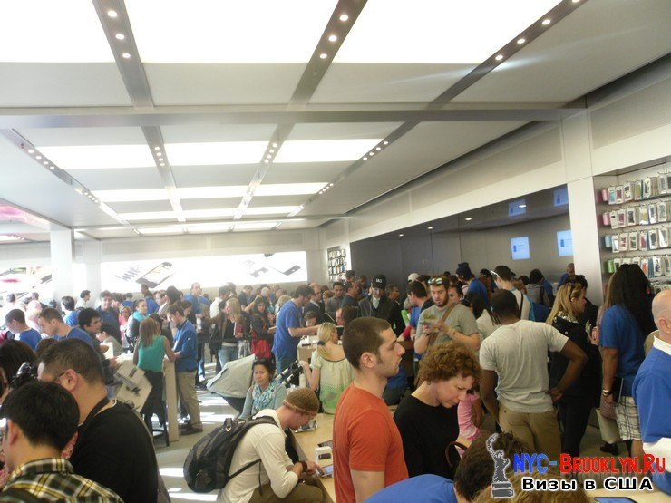 18. Магазин Apple Store в Нью-Йорке, на 5th Avenue - NYC-Brooklyn