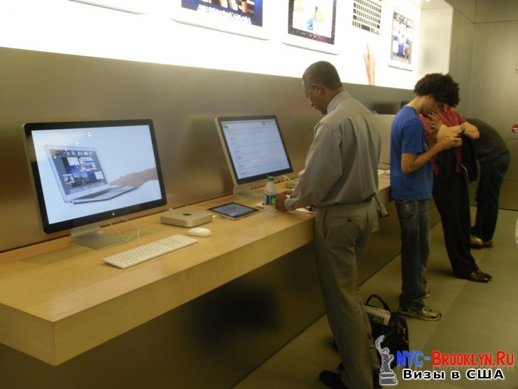 19. Магазин Apple Store в Нью-Йорке, на 5th Avenue - NYC-Brooklyn