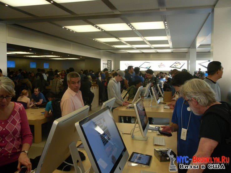 20. Магазин Apple Store в Нью-Йорке, на 5th Avenue - NYC-Brooklyn