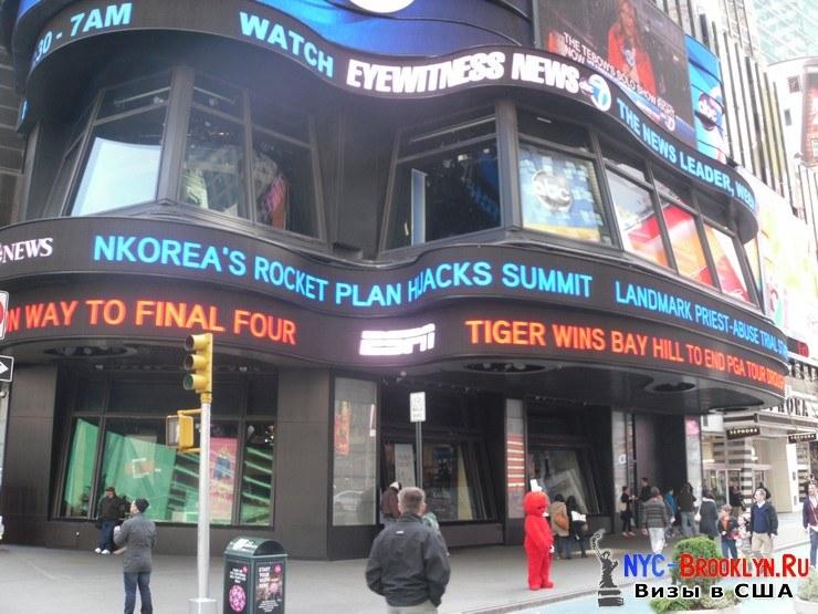 29. Фотоотчет Площадь Таймс Сквер в Нью-Йорке. Times Square New York - NYC-Brooklyn