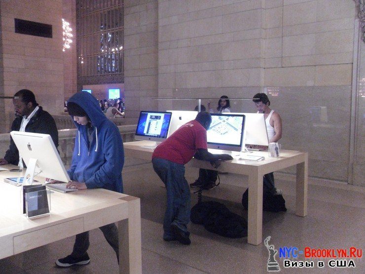 33. Магазин Apple Store в Нью-Йорке Grand Central - NYC-Brooklyn
