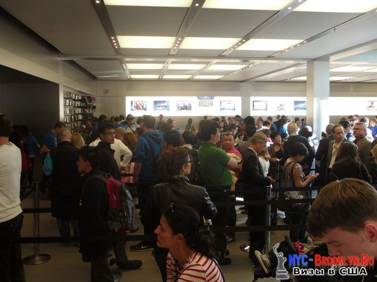 34. Магазин Apple Store в Нью-Йорке, на 5th Avenue - NYC-Brooklyn