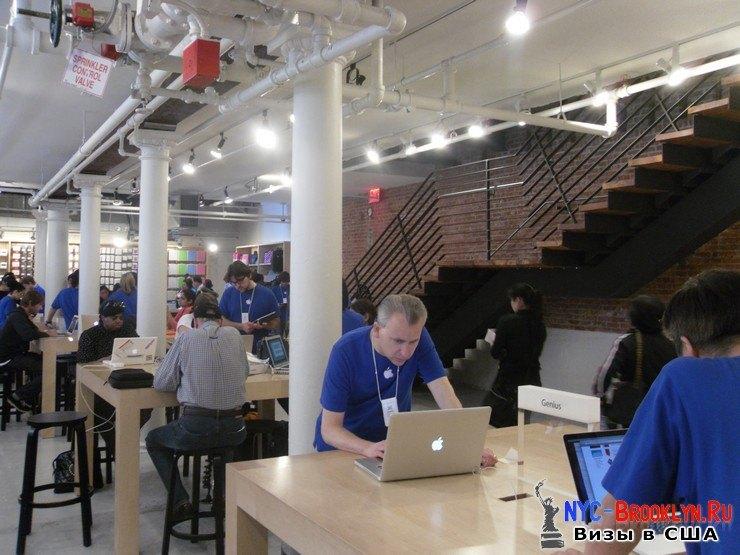 35. Магазин Apple Store в Нью-Йорке, в SoHo - NYC-Brooklyn