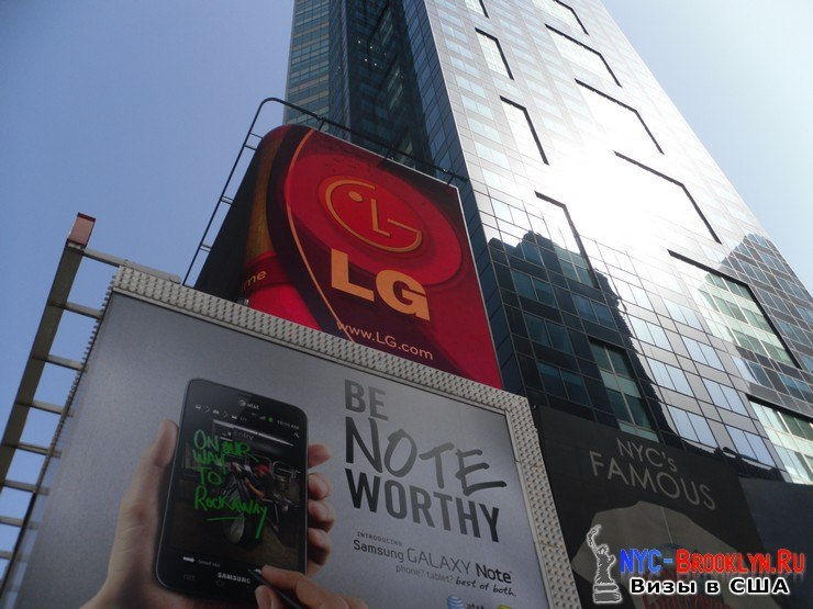 38. Фотоотчет Площадь Таймс Сквер в Нью-Йорке. Times Square New York - NYC-Brooklyn