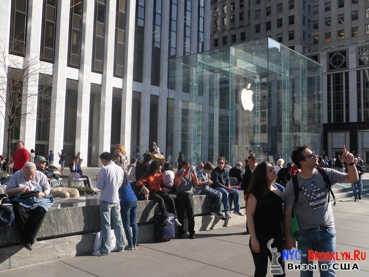 4. Магазин Apple Store в Нью-Йорке, на 5th Avenue - NYC-Brooklyn