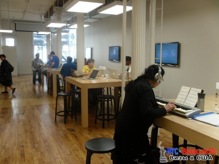 5. Магазин Apple Store в Нью-Йорке, в SoHo - NYC-Brooklyn