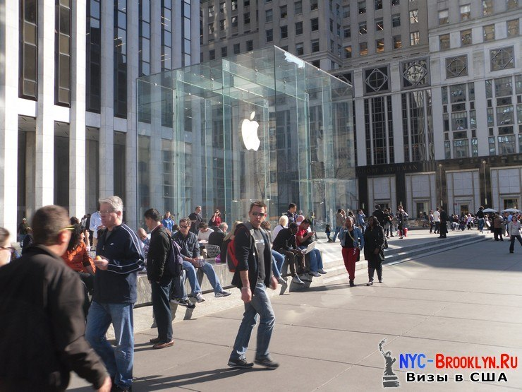 5. Магазин Apple Store в Нью-Йорке, на 5th Avenue - NYC-Brooklyn