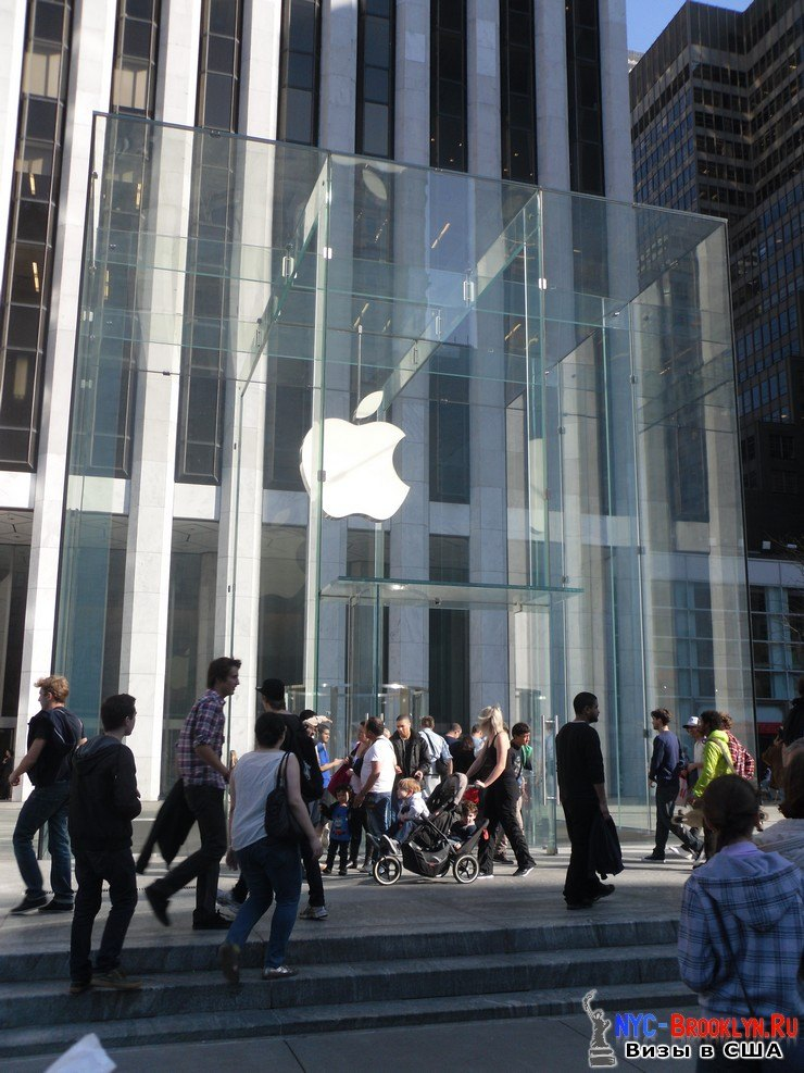 6. Магазин Apple Store в Нью-Йорке, на 5th Avenue - NYC-Brooklyn