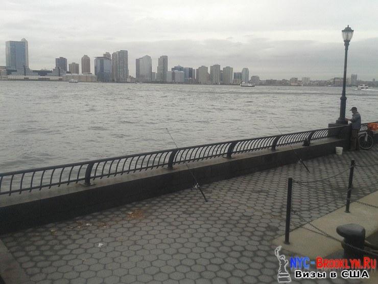 ловля рыбы, яхт-клуб, Всемирного Торгового Центра, рыбалка, Нью-Йорк, США, NYC-Brooklyn