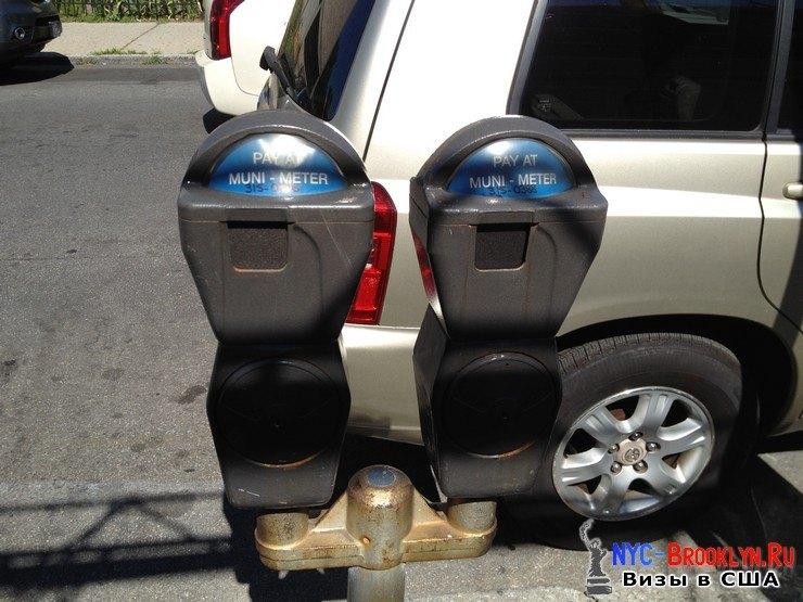 1. Автоматы парковочных мест в Америке - NYC-Brooklyn
