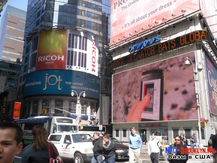10. Фотоотчет Площадь Таймс Сквер в Нью-Йорке. Times Square New York - NYC-Brooklyn