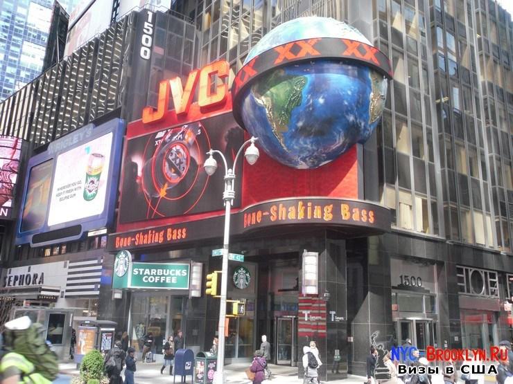 16. Фотоотчет Площадь Таймс Сквер в Нью-Йорке. Times Square New York - NYC-Brooklyn