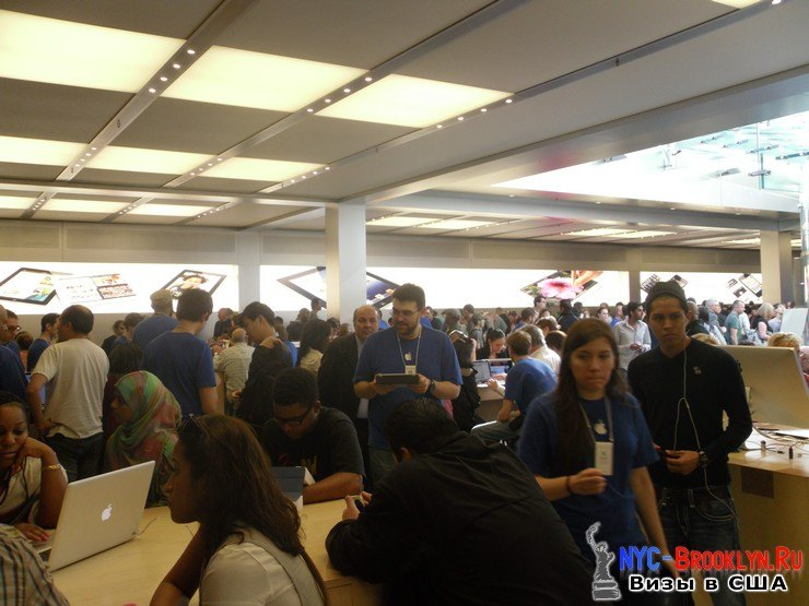 23. Магазин Apple Store в Нью-Йорке, на 5th Avenue - NYC-Brooklyn