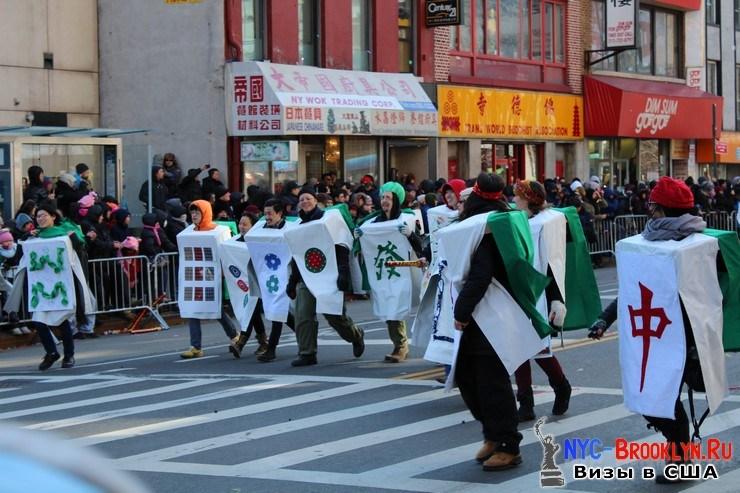 34. Парад в Нью-Йорке восточного Нового Года 2013 в Чайна Тауне - NYC-Brooklyn