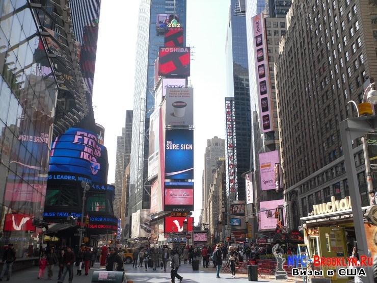 36. Фотоотчет Площадь Таймс Сквер в Нью-Йорке. Times Square New York - NYC-Brooklyn