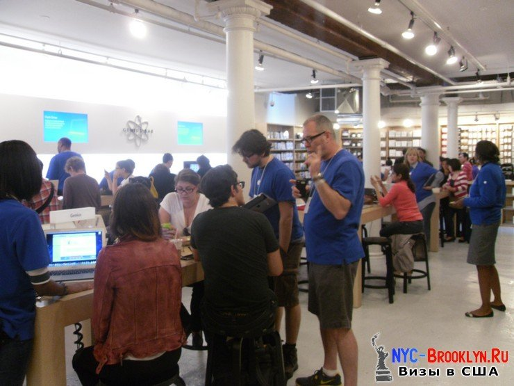 37. Магазин Apple Store в Нью-Йорке, в SoHo - NYC-Brooklyn