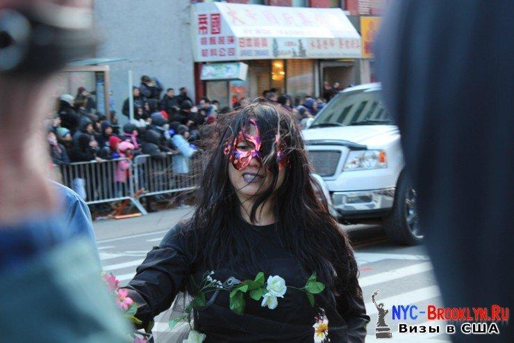43. Парад в Нью-Йорке восточного Нового Года 2013 в Чайна Тауне - NYC-Brooklyn