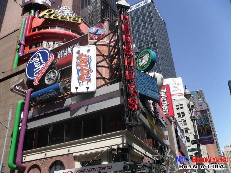 73. Фотоотчет Площадь Таймс Сквер в Нью-Йорке. Times Square New York - NYC-Brooklyn
